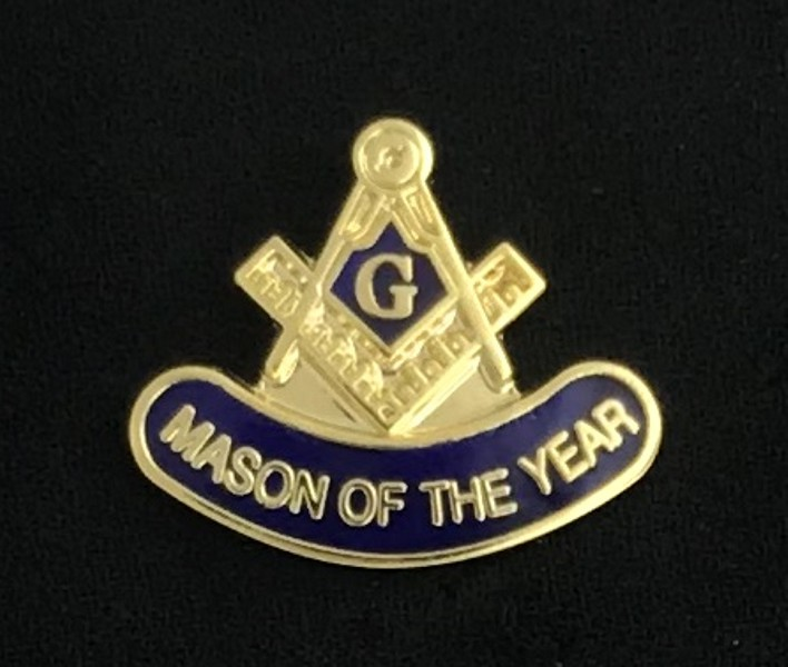"Masonic ""Mason of the Year"" Lapel Pin"