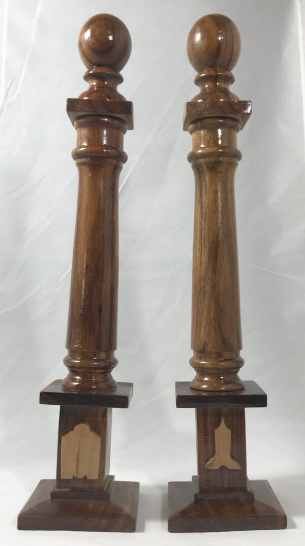 Masonic Lodge Warden Column Set New