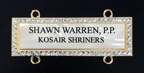 Custom Chain Collar Name Bar Mother of Pearl New