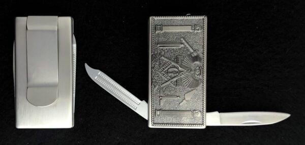 Masonic Money Clip Knife File New