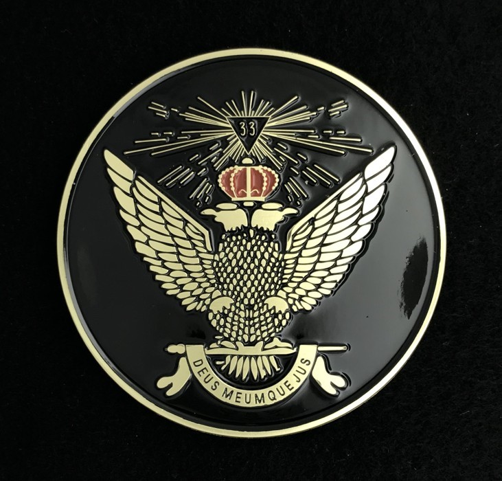 33rd Degree Scottish Rite Wings Up (Black)