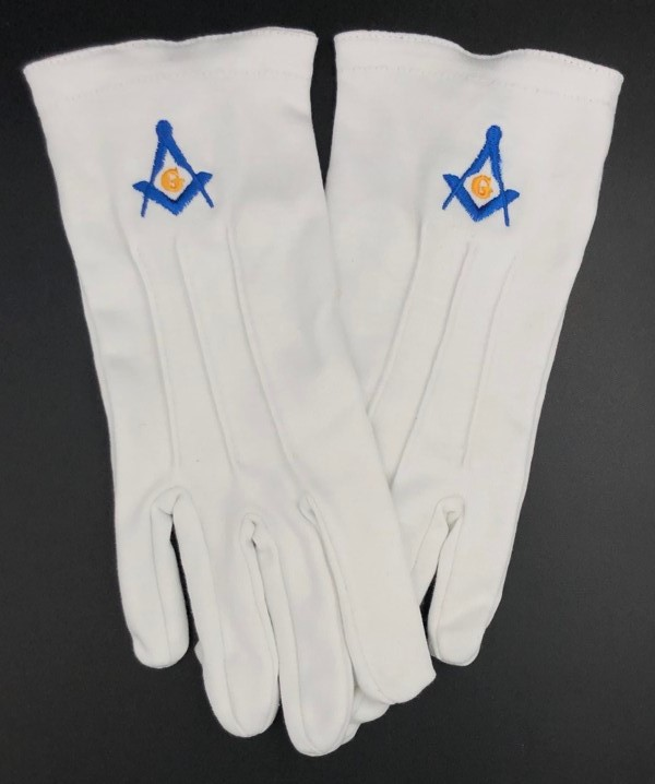 Cotton Gloves with Masonic Emblem