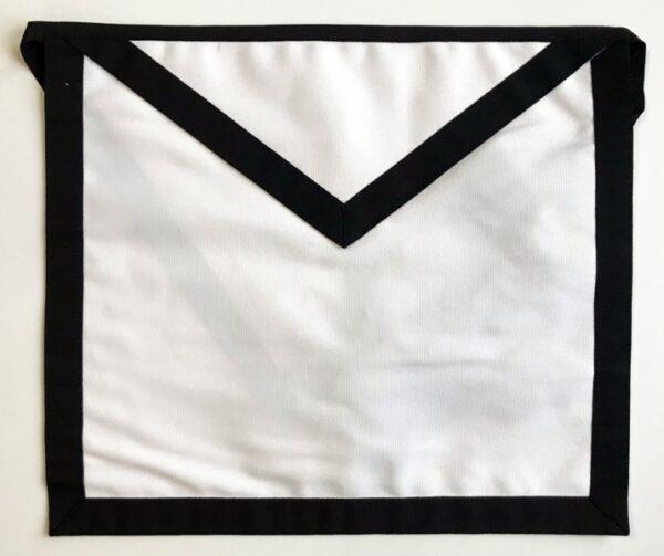 Masonic Funeral Apron Black Trim New For Sale