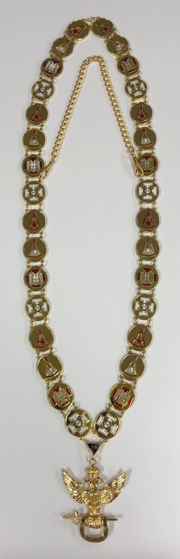 Scottish Rite 33rd Degree Collar & Jewel