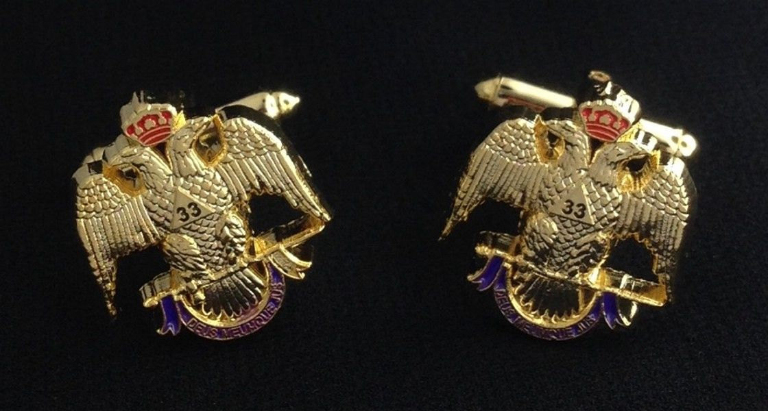 33rd Degree Eagle Cuff Link Set
