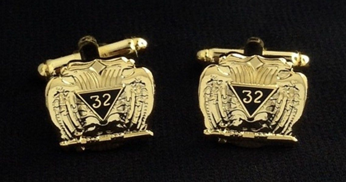 32nd Degree Eagle Cuff Link Set