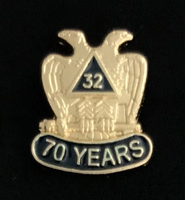 32nd Degree 70 Year Lapel Pin