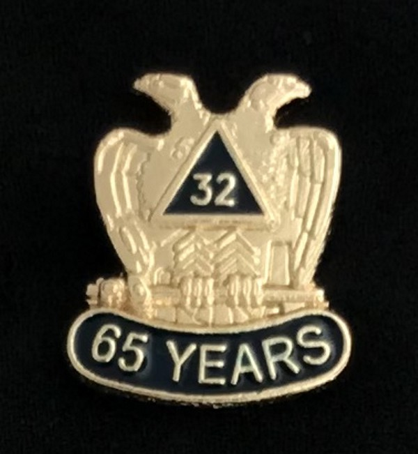 32nd Degree 65 Year Lapel Pin