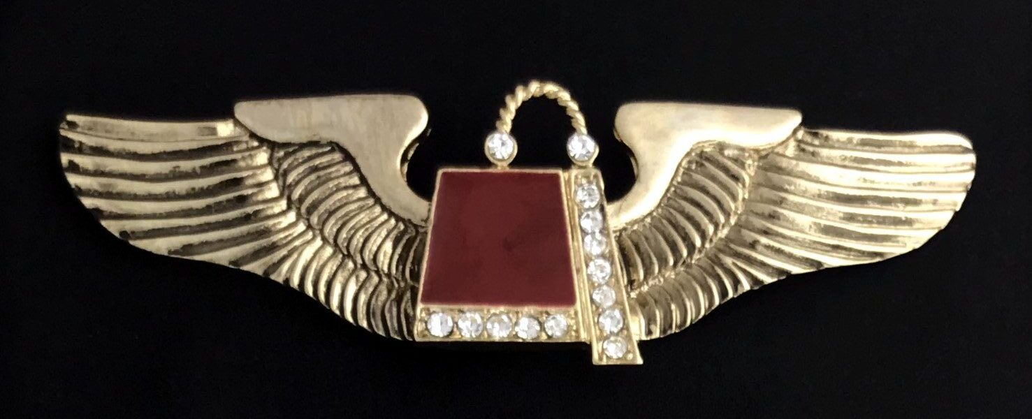 Aviation Wings with Jeweled Shrine Fez