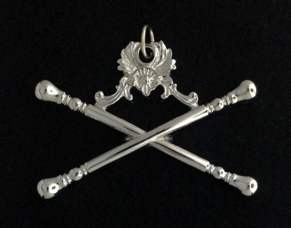 Masonic Marshal Collar Jewel Silver New
