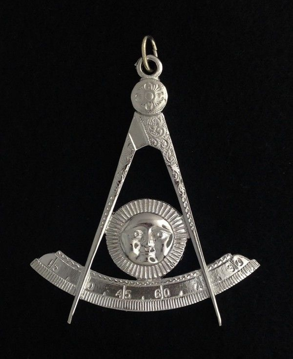 Masonic Past Master Collar Jewel Silver New