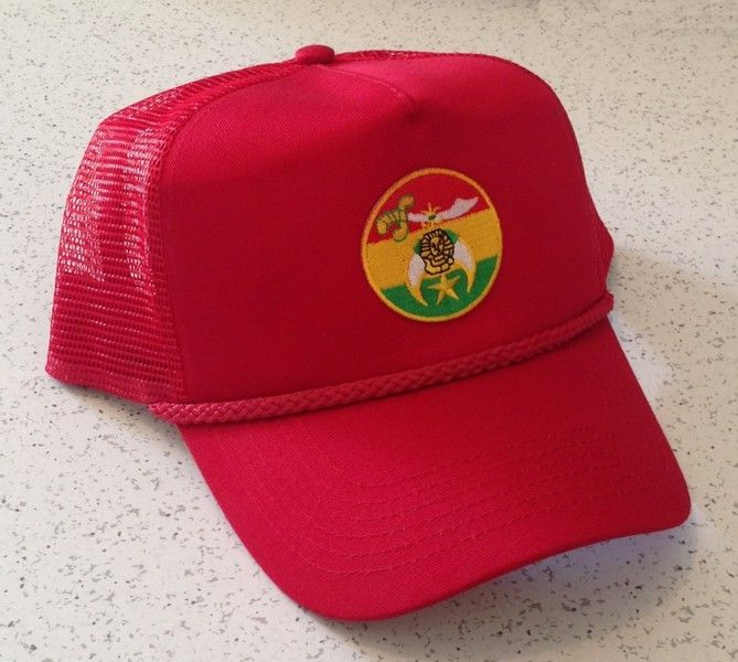 Shriner Cap in Red with Round Emblem