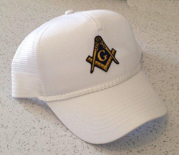 Masonic Cap Hat White New For Sale