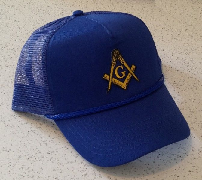 Masonic Trucker Style Cap in Blue