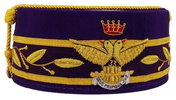 Scottish Rite 33rd Degree Crown Wings Out Purple New