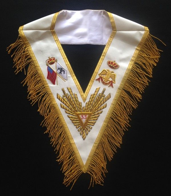 33rd Degree Embroidered Collar