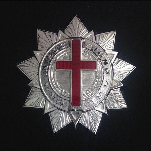 Knight Templar Baldric Ornament Silver New
