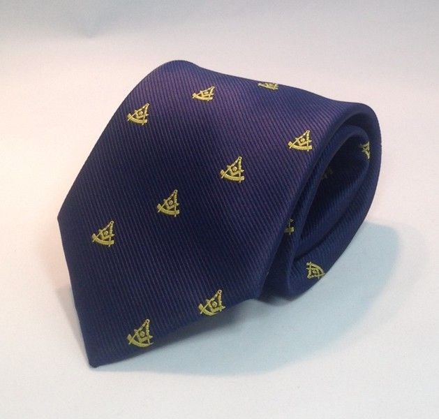 Past Master WITH Square Woven Necktie - Navy Blue