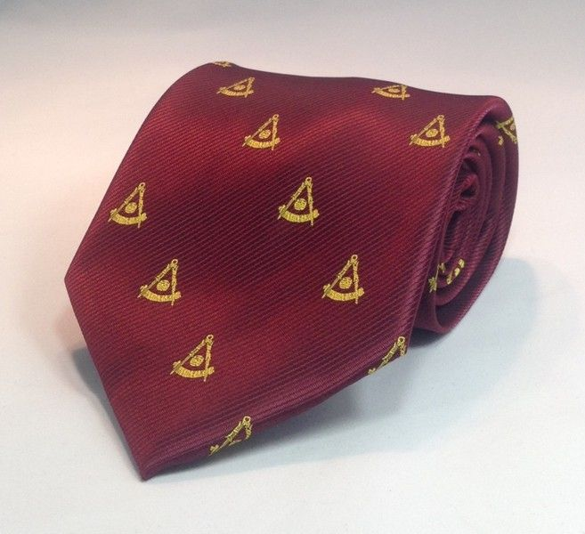 Past Master NO Square Woven Necktie - Maroon