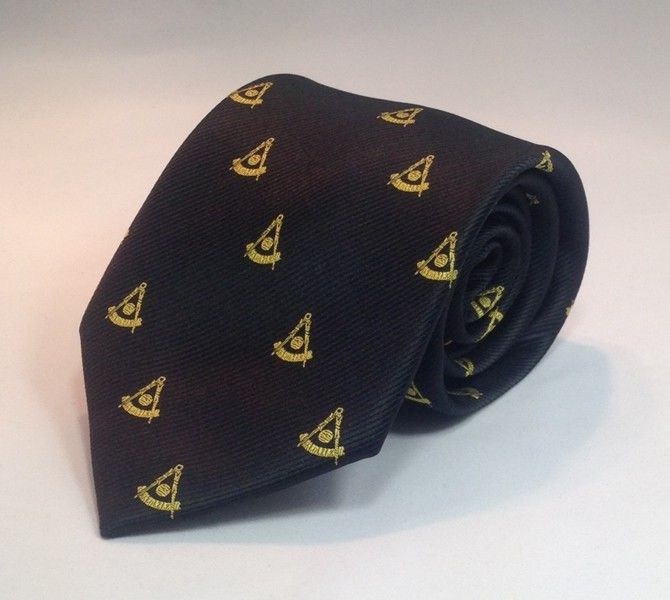 Past Master NO Square Woven Necktie - Black