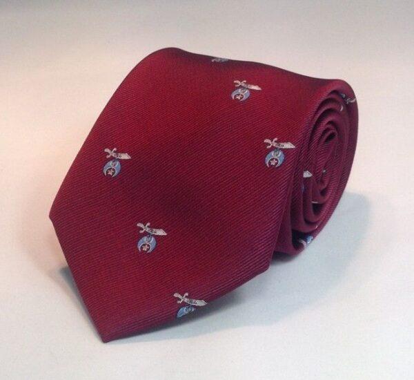 Shrine Shriner Necktie Maroon New For Sale