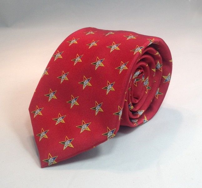 Order of the Eastern Star Woven Necktie - Red