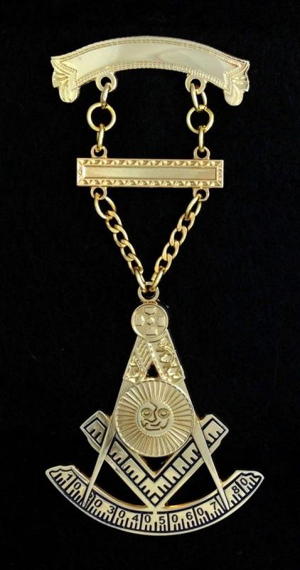 Masonic Past Master Jewel - Style PM3-100
