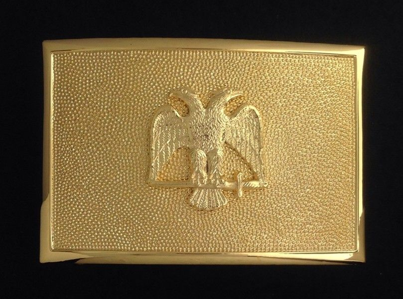 Scottish Rite Sword Belt Plate in Gold Finish