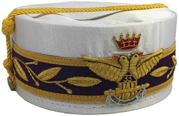 Scottish Rite 33rd Degree Crown Wings Out White New
