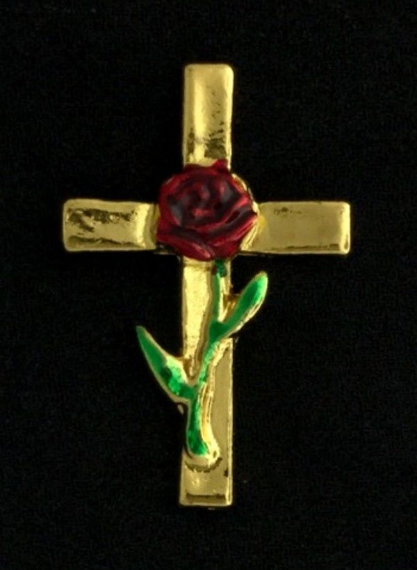 Rose Croix Lapel Pin - Version 3