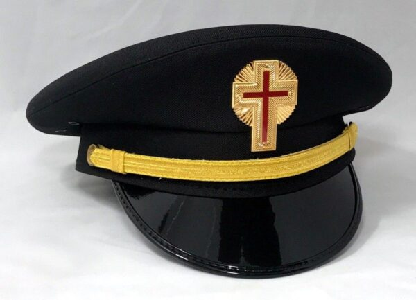 Knight Templar Fatigue Cap Hat Black New