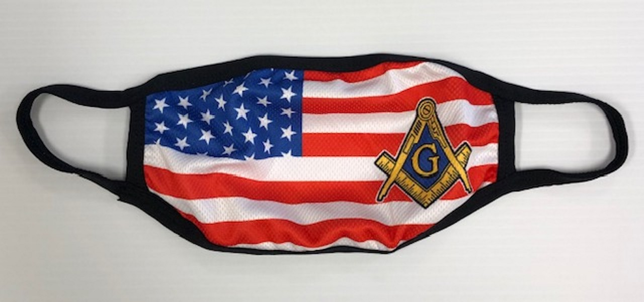 Masonic U.S. Flag Face Mask