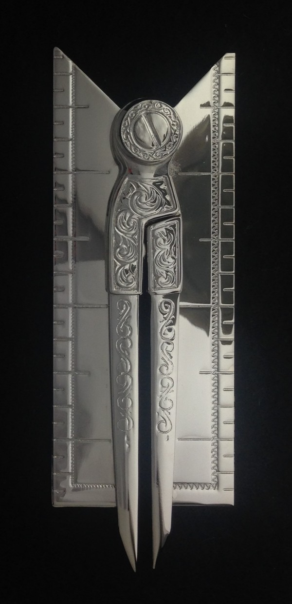 Masonic Working Reception Tool in Silver