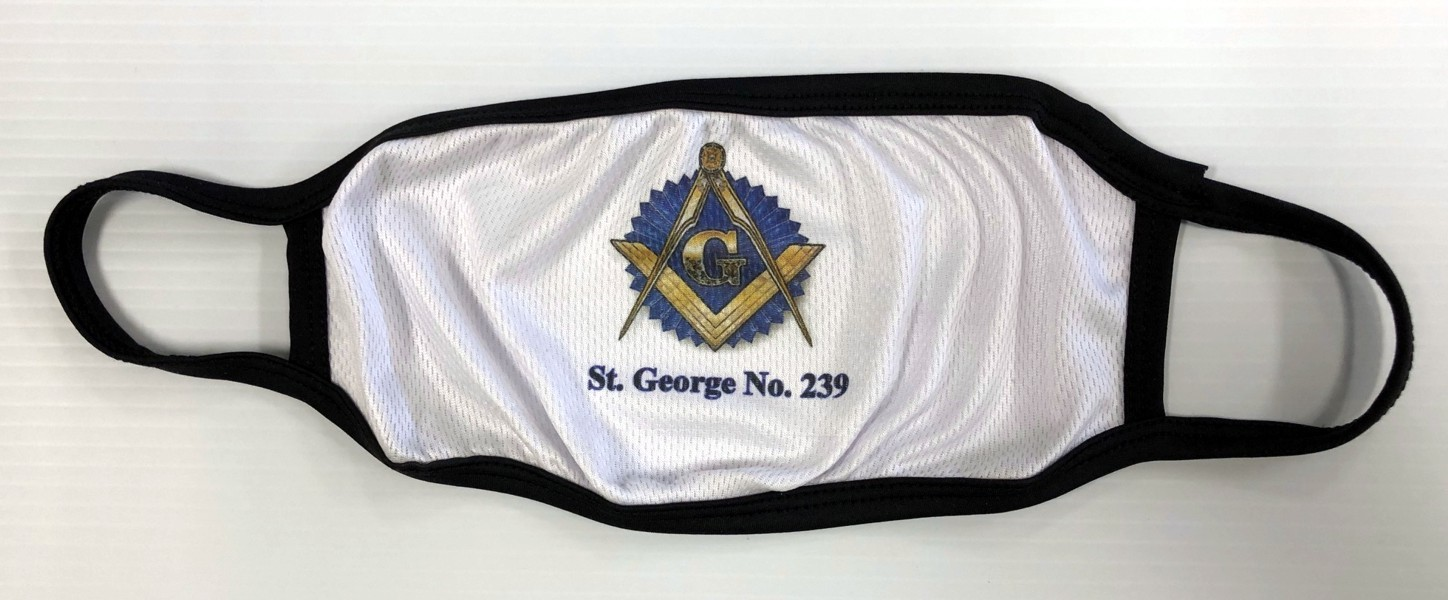 Masonic Face Mask with Lodge Name & Number (Dozen)