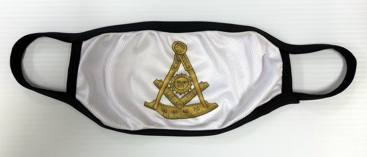 Masonic Past Master Face Mask