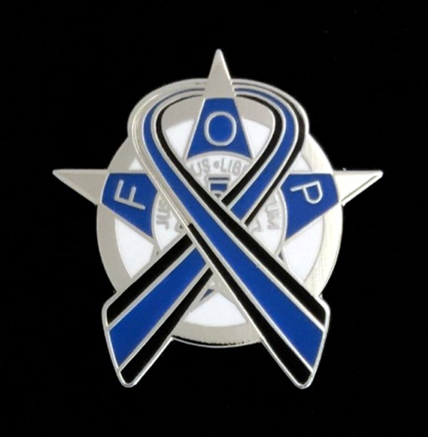 Fraternal Order of Police Lapel Pin Silver New