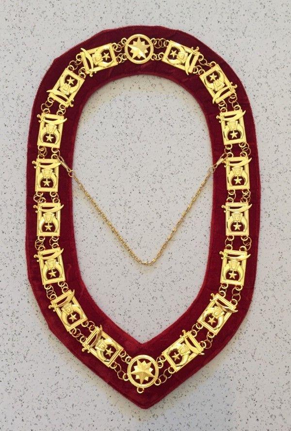 Shrine Shriner Chain Collar Red