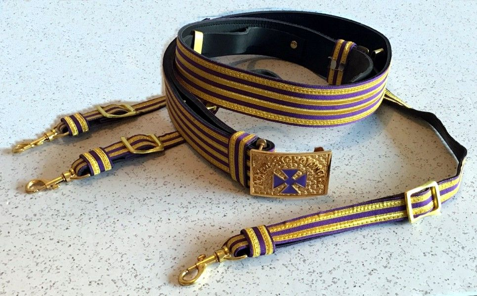 Past Grand Commander Sword Belt With Slings