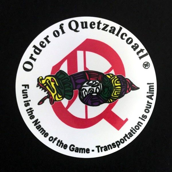 Order of Quetzalcoatl Full Color Aluminum Auto Emblem