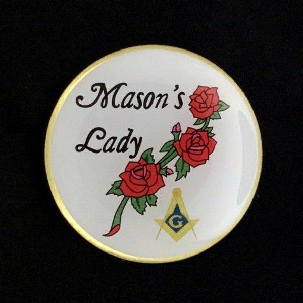 Masonic Masons Lady Lapel Pin New