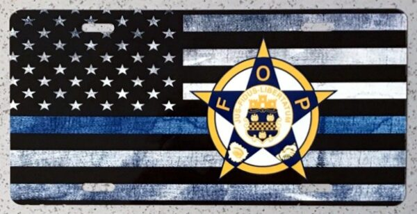 Fraternal Order of Police Auto Plate