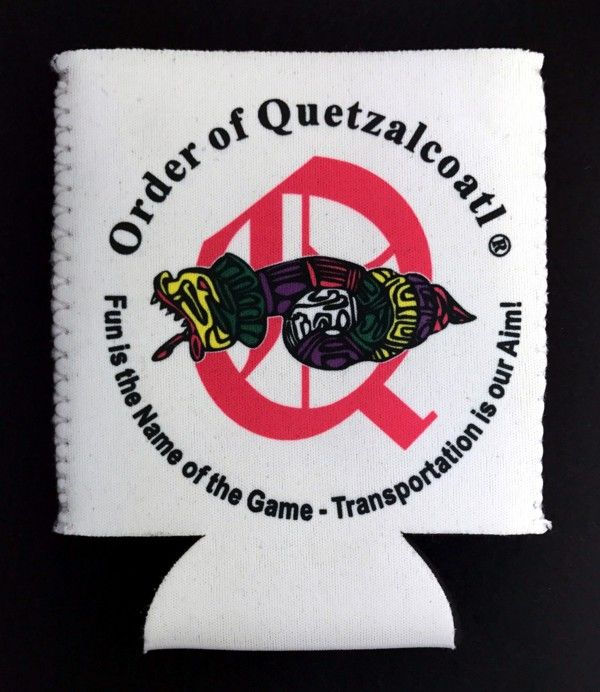 Order of Quetzalcoatl Full Color Can Cooler (White)