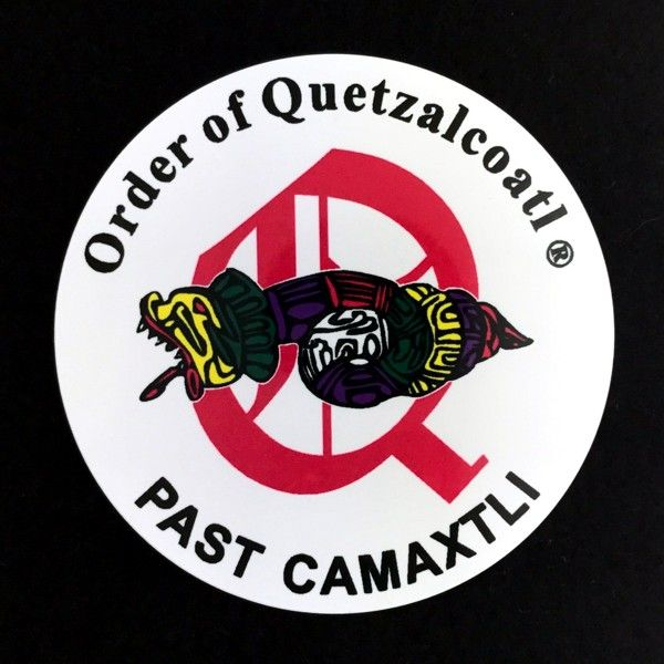Order of Quetzalcoatl Full Color Past Camaxtli Auto Emblem
