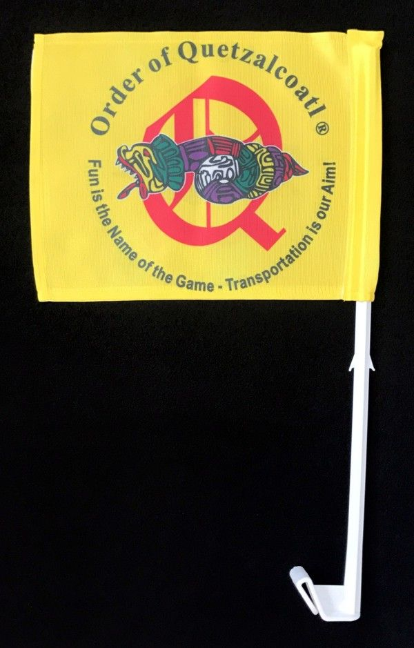 Order of Quetzalcoatl Full Color Auto or Motorcycle Flag