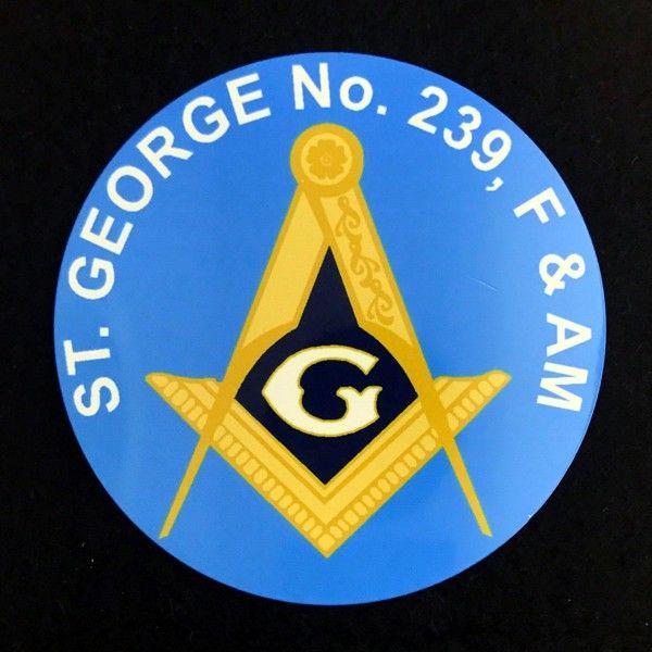Custom Masonic Lodge Auto Emblem