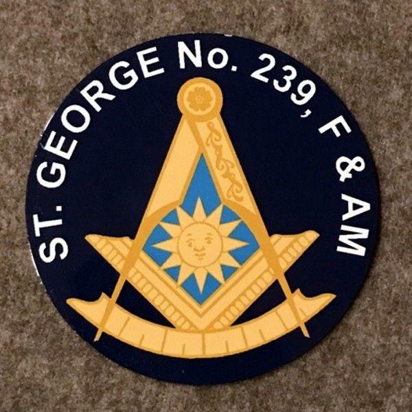 Custom Masonic Past Master Auto Emblem