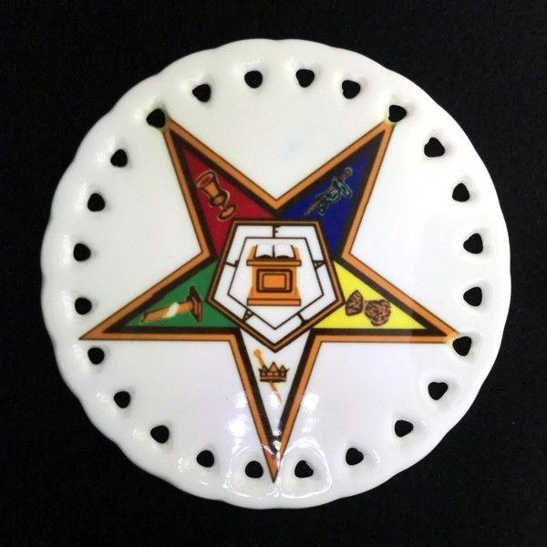 Order of the Eastern Star Ceramic Christmas Ornament