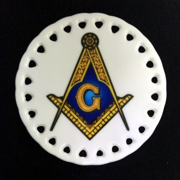 Masonic Ceramic Christmas Ornament