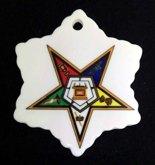 Eastern Star Ceramic Christmas Ornament