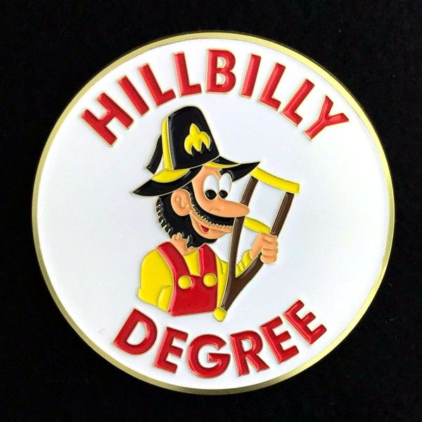 Hillbilly Degree Car Auto Emblem